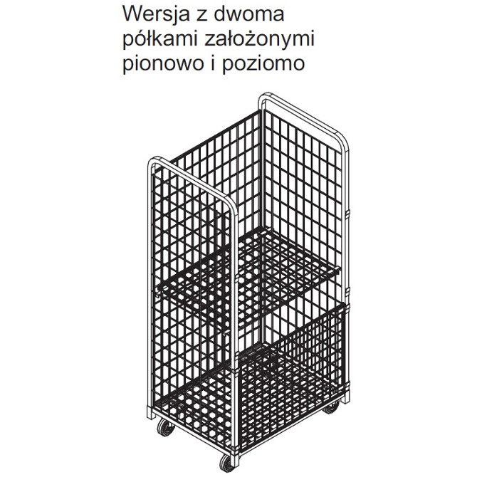 Wózek sklepowy kontener