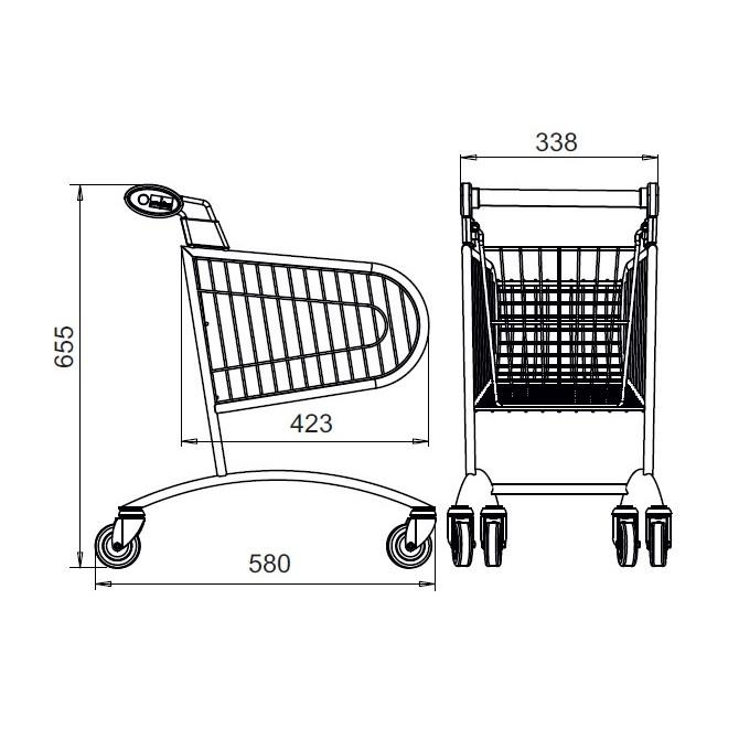 Maszty do wózków marketowych