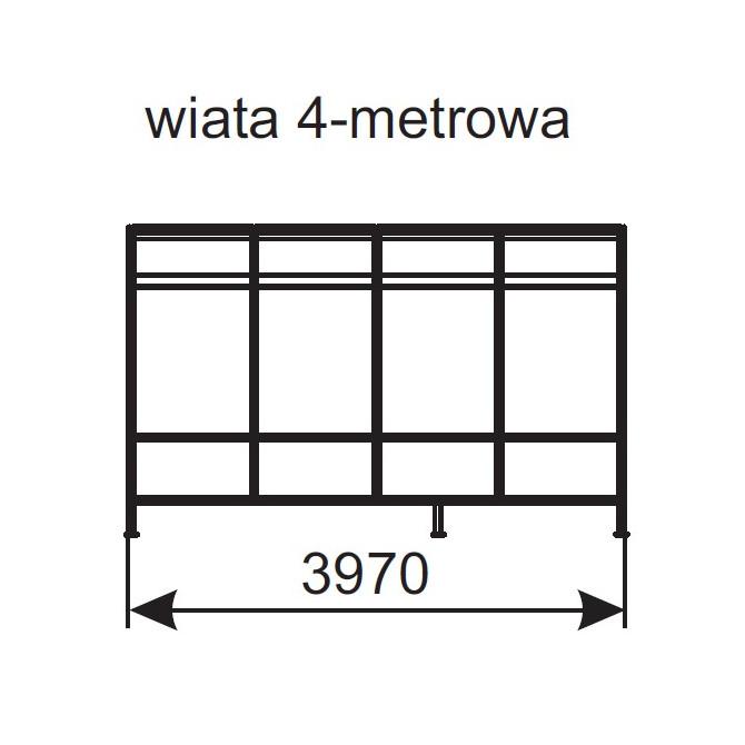 Wiata na wózki 4-metrowa