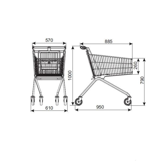 Wózek sklepowy Avant 106 Damix