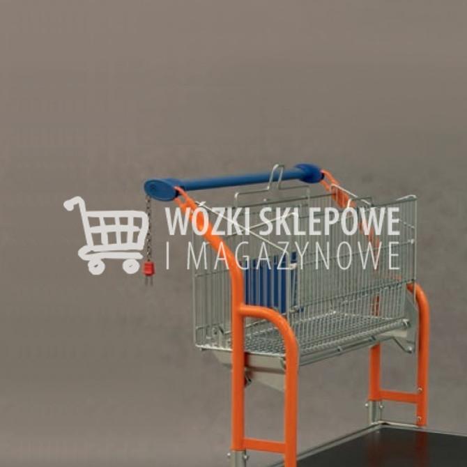 Wózek z rozkaładanym koszem