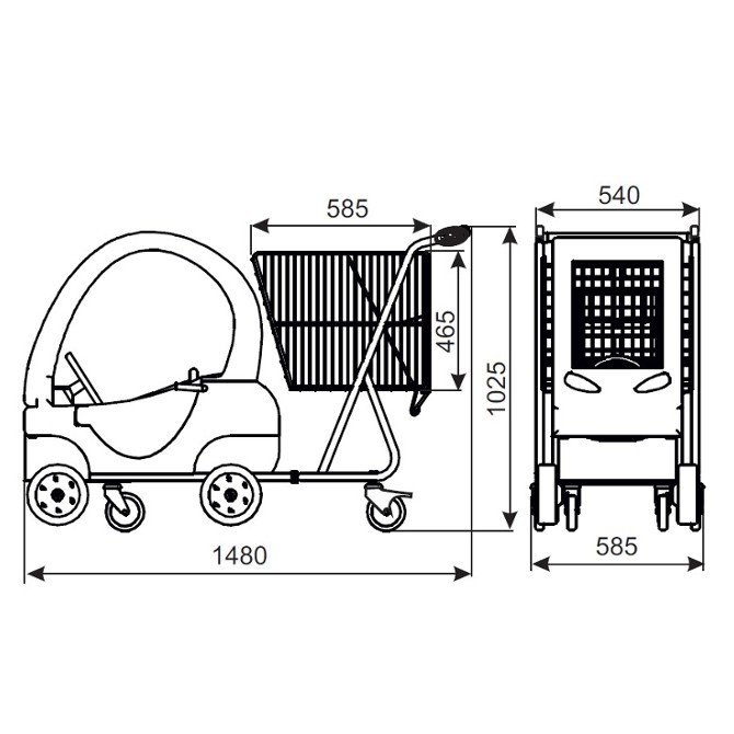 Wózek sklepowy dziecięcy